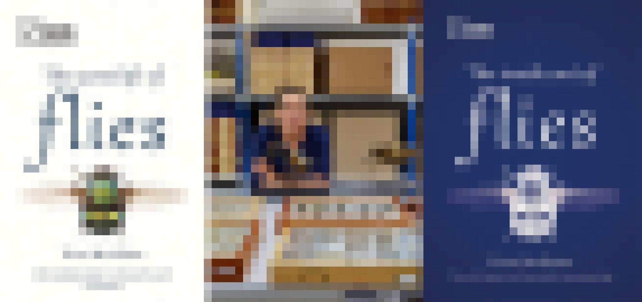 Links und rechts die Cover der beiden Bücher von Erica McAlister. Auf dem Titel ist jeweils eine kleine Fliege abgebildert. In der Mitte ist die Autorin zu sehen in der Sammlung des Natural History Museums. Auf dem Tisch vor ihr stehen Schaukästen voller kleinerer und größerer Fliegen. Im Hintergrund ein Regal. Zu ihrer Linken und vor der Biologin stehen zwei große Modelle von Fliegen.