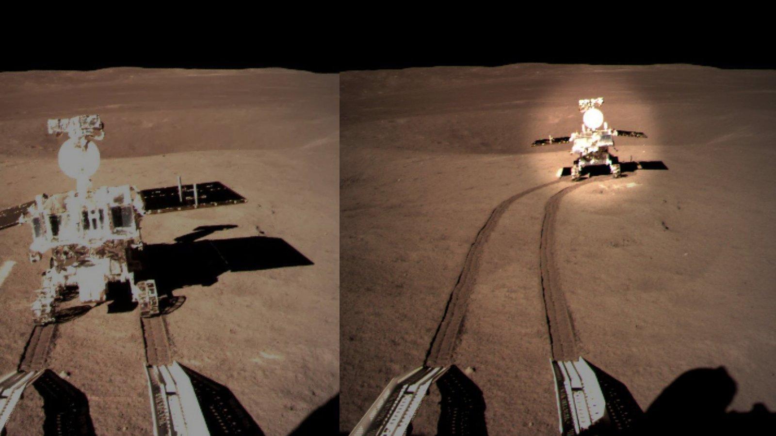 Rover Yutu 2verlässt das Landegestell der Raumsonde Chang'e 4