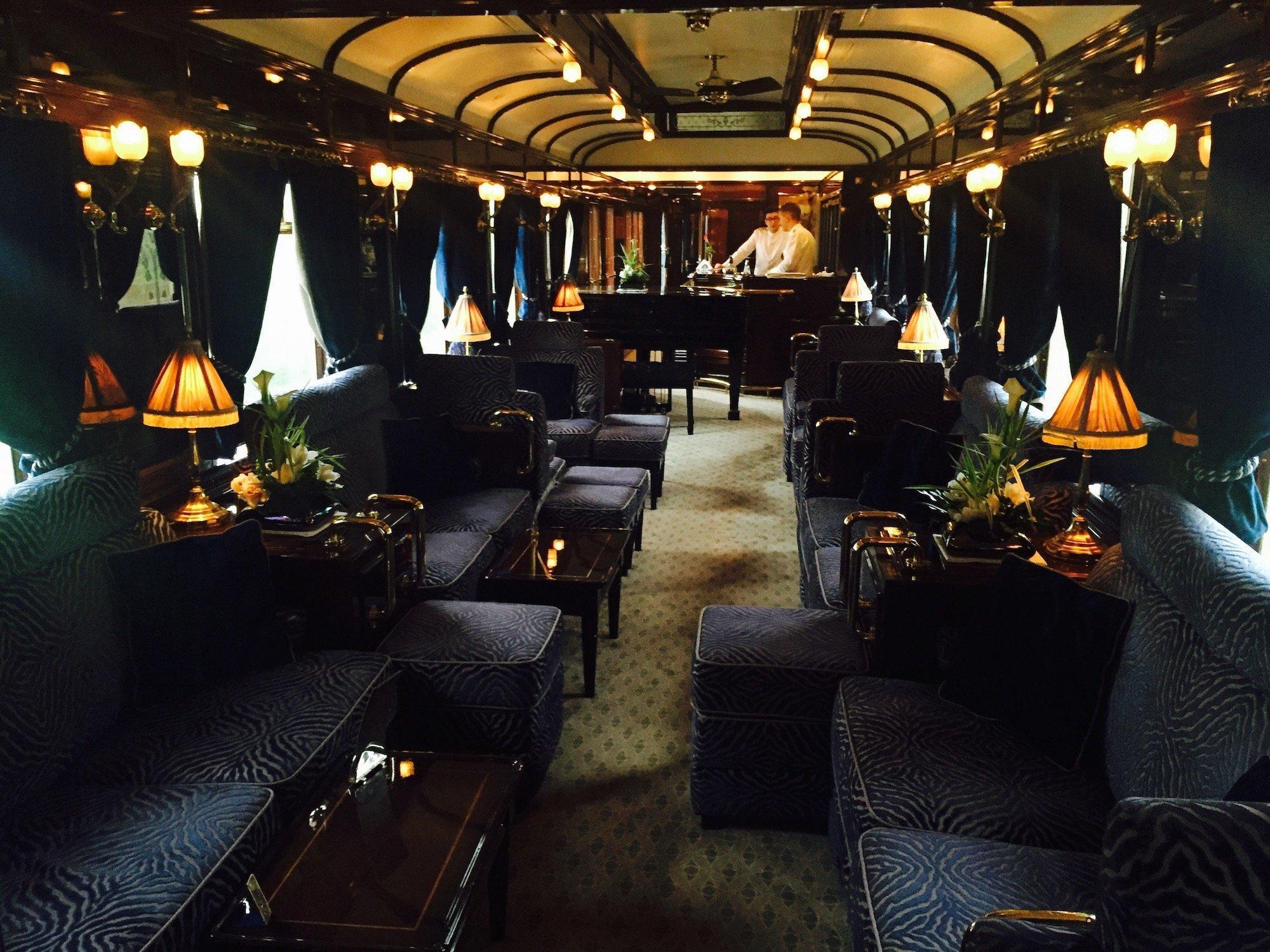 Aufnahme aus einem Waggon des Orient Express.